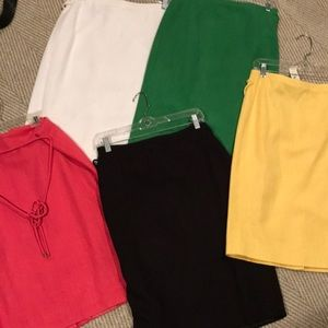(5) Talbots skirts